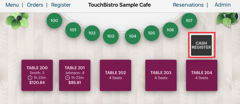 touchbistro screen capture